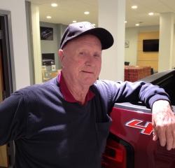 Car Porter  Ed Wetzel in Service at Kightlinger Motors