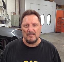 Body Shop Technician Frank Granata  in Body at Kightlinger Motors