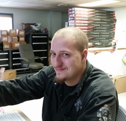 Parts Manager Jeff Myers in Service at Kightlinger Motors