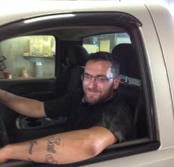 Body Shop Technician Kyle Thompson in Body at Kightlinger Motors