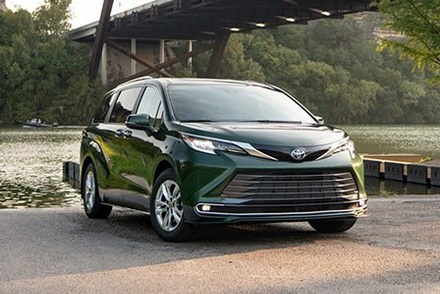 Green 2021 Toyota Sienna available at Westbury Toyota on Long Island, NY.