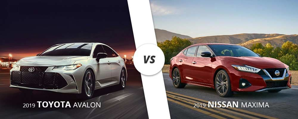 Comparing the 2019 Toyota Avalon to the 2019 Nissan Maxima on Long Island, NY.