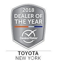 Westbury Toyota accepts 2018 Dealer of the Year Award for the New York region.