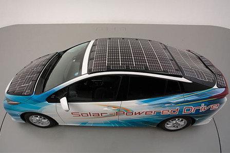 Solar-powered Toyota Prius concept hybrid.
