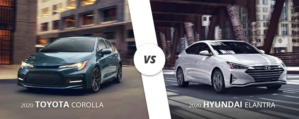 Comparing the 2020 Toyota Corolla to the 2020 Hyundai Elantra on Long Island, NY.