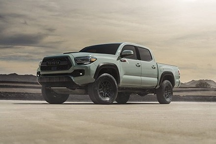 2021 gray Toyota Tacoma available at Westbury Toyota on Long Island.