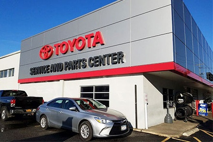 Westbury Toyota service and parts center on Long Island, NY.