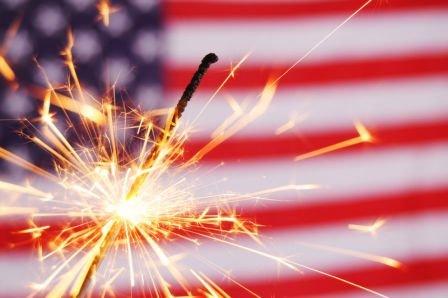 Fourth of July celebration in Westbury, NY.