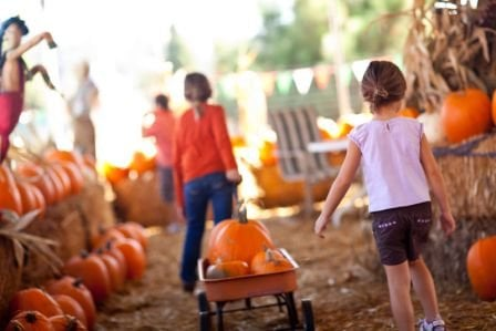 Children enjoying a local fall festival here on Long Island.