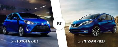 Comparing the 2018 Toyota Yaris from Westbury Toyota on Long Island to the 2018 Nissan Versa.