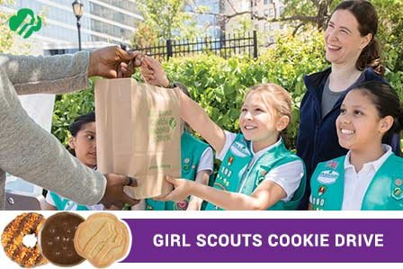 Girl Scout cookie drive at Westbury Toyota on Long Island.