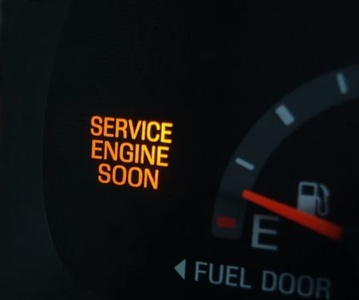 An Example of a check engine light on a Toyota on Long Island in New York.