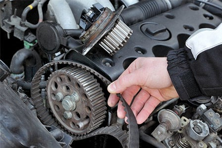 Checking belts on a Toyota here on Long Island, NY.