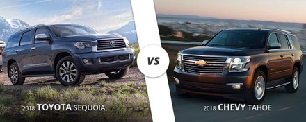 2018 Toyota Sequoia vs. 2018 Chevy Tahoe comparison.