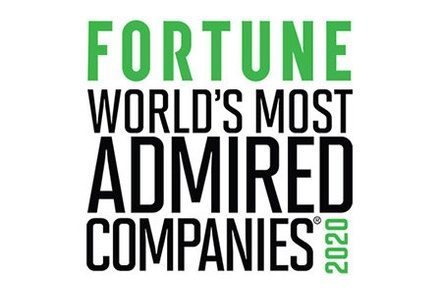 Fortune magazine world's most admired companies list logo.