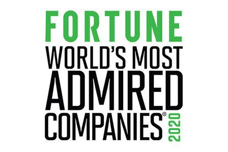 Fortune magazine world's most admired companies list logo.
