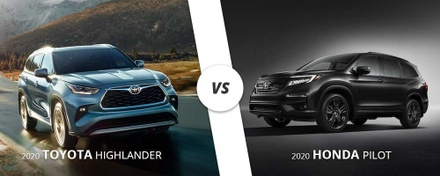 2020 Toyota Highlander vs 2020 Honda Pilot.