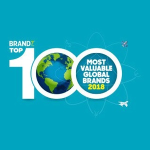 BrandZ Top 100 Most Valuable Global Brands logo.