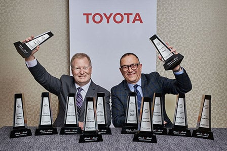 Toyota wins 19 Canadian Black Book Awards at the 2019 edition of this event.