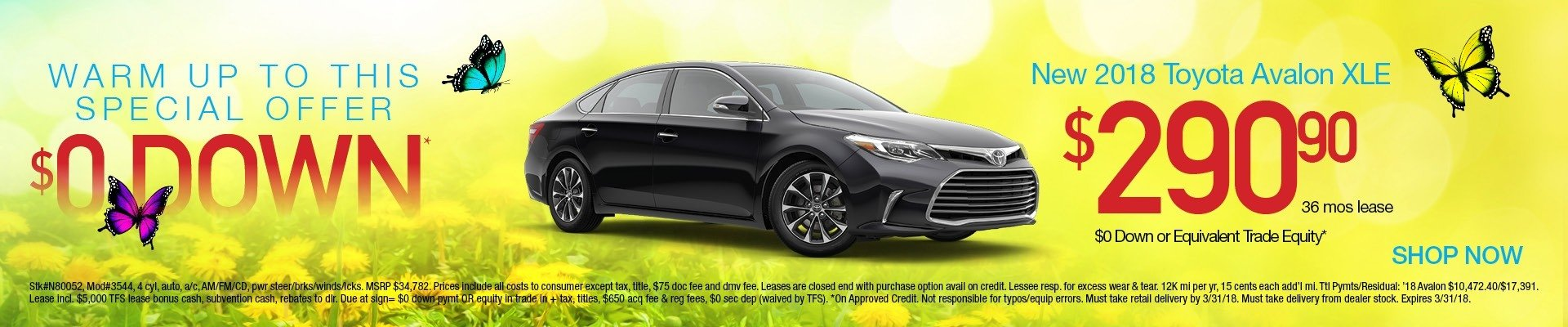 2018 Avalon Lease Special