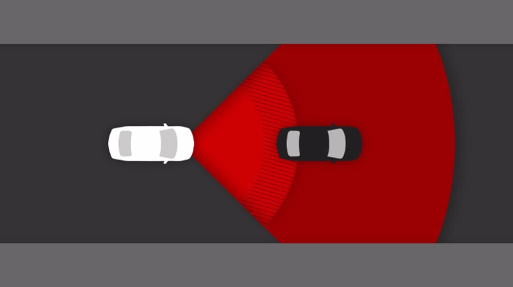 Toyota safety sense TSS pre collision system example