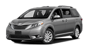 silver toyota sienna minivan that can fit your entire family