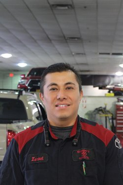 Certified Toyota Technician Isreal Campos in Service Team at Westbury Toyota