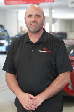 Parts Manager Eric Olszewski in Management at Westbury Toyota