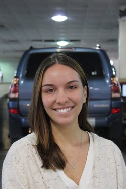 Service Appointment Coordinator Alessandra Riley in Business Development Center at Westbury Toyota