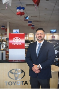Sales Consultant Aldemar Cagua in Sales at Westbury Toyota