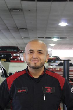 Master Technician Darwin Mejia in Service Team at Westbury Toyota