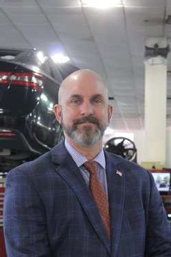 Fixed Operations Director Stephen Hurd in Service Team at Westbury Toyota