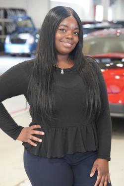 Express Advisor Krista Callender in Service at Westbury Toyota