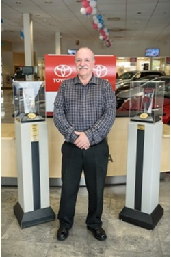 Service Director Richard Leitermann in Service at Westbury Toyota