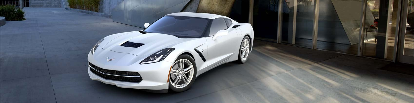 new white chevrolet corvette