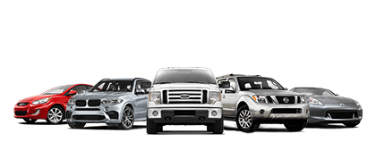 Line up of pre-owned models for sale at Cable Dahmer Auto Direct