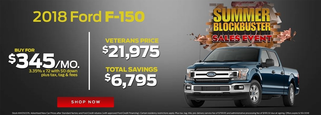 2018 ford f-150 monthly specials
