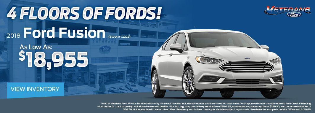 2018 ford fusion special