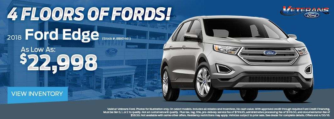 2018 ford edge floor model special