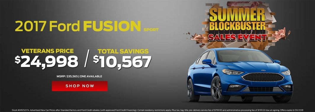 blue 2017 ford fusion sport summer blockbuster special