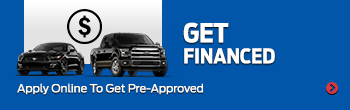 Get pre-approved today for a financing on new ford