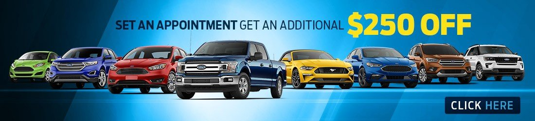 Set an appointment to get your $250 off coupon toward your new car purchase