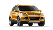 Yellow Ford Escape SUV that is great for the family