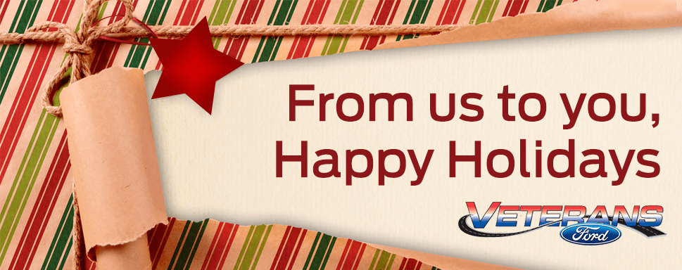 Happy Holidays from Veterans Ford