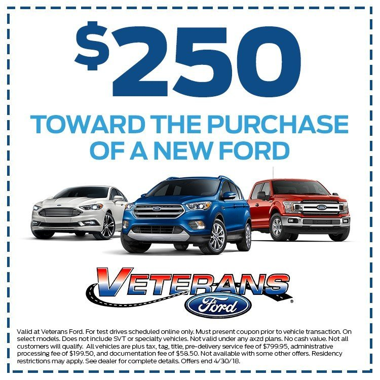 250 dollar off new car purchase coupon