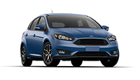 New blue Ford Focus for sale at Mathews Ford Oregon in Toledo.