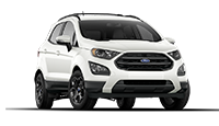 New white Ford EcoSport for sale at Mathews Ford Oregon in Toledo.