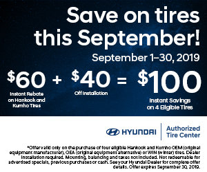 Coupon for Save on Tires this September!