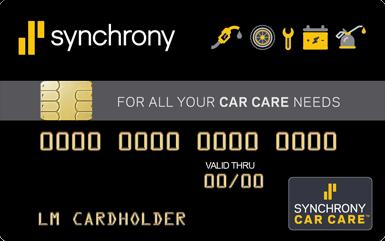 synchrony car care credit card