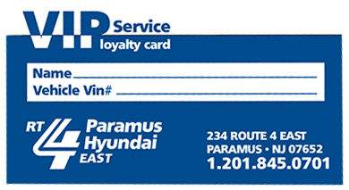 VIP Service Loyalty Card